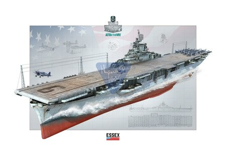 Italeri 46503 World of Warships Lotniskowiec USS ESSEX