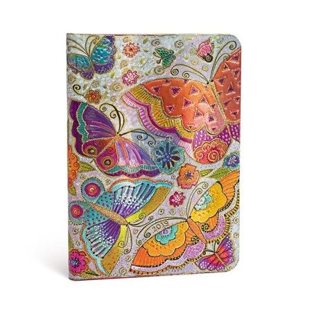 Terminarz książkowy Paperblanks FLUTTERBYES Midi Day-at-a-Time 2019