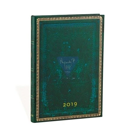 Terminarz książkowy Paperblanks VIRIDIAN Midi Day-at-a-Time 2019